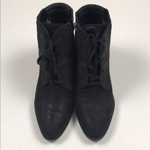 Franco Sarto Marissa Lace Up Booties. Size 10.